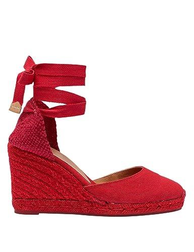 875db3abad Castañer Espadrillas in Tela E Juta Con Zeppa: Amazon.fr: Chaussures ...