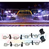 LEDGlow 8pc Universal LED Truck Bed Light Kit - Sealed Waterproof Light Pods - Includes Power Switch