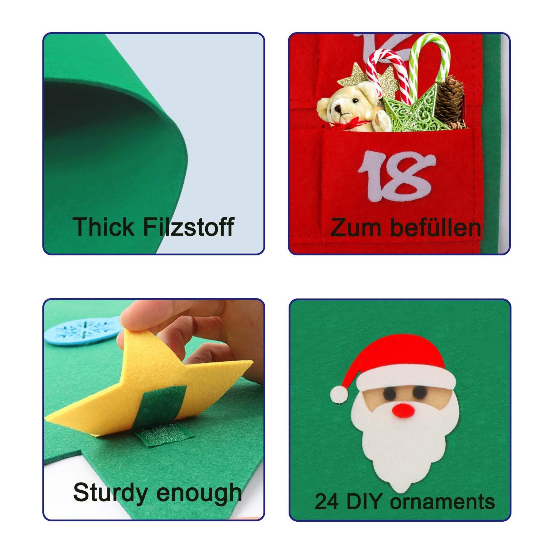 Kinder Adventskalender Socke mit 24 x Spielzeug befüllt für Jungen und Mädchen