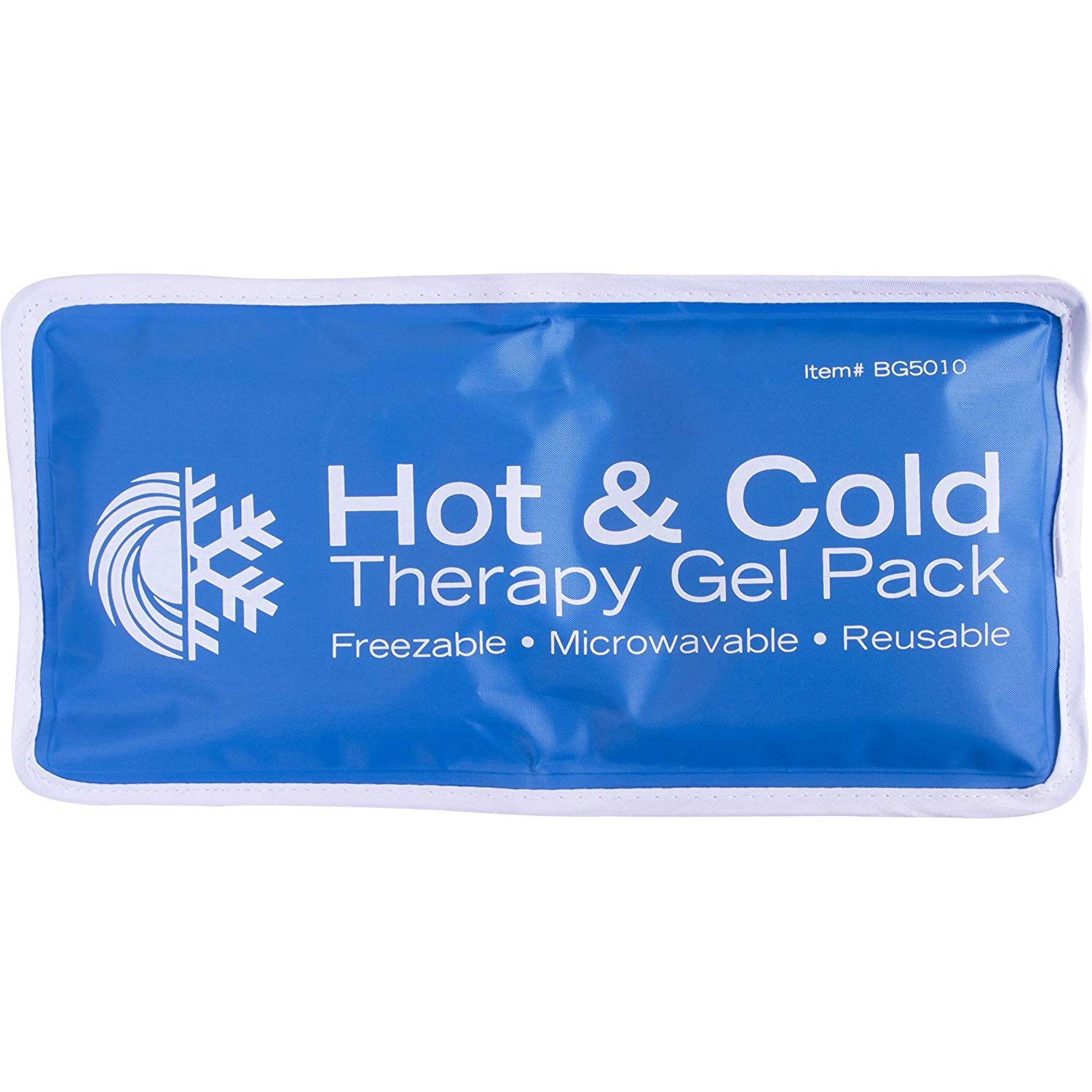 Roscoe Reusable Cold Pack and Hot Pack – Ice Pack For Knee, Shoulder, Back, Injuries - Microwave Heating Pad, 5 x 10 Inches
