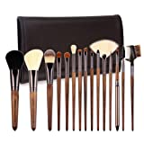 Amazon Price History for:Makeup Brushes 15 Piece ZOREYA High End Real Hard Walnut Handle Makeup Brush Set with Dark Brown Leather Brush Case Bag Holder