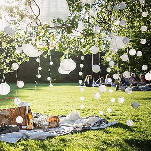 Farol de hadas, Easyliving funciona con pilas, 20 farolillos chinos de 4,2 m para interior, exterior, fiesta, jardín, Navidad, boda, hogar, recámara, patio, decoración: Amazon.es: Iluminación