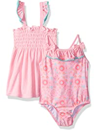 5f25b02d261d0 Baby Buns Girls  Tribal Cutie Terry Cover Up Swim Set