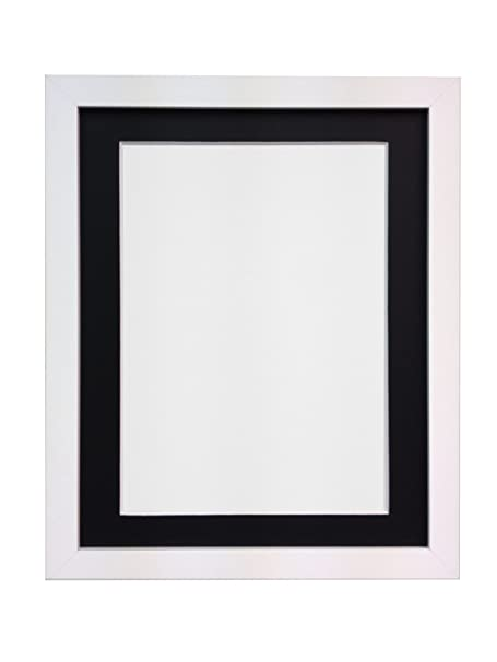 FRAMES BY POST H7 Picture Photo Frame, Wood, White with White Mount ...