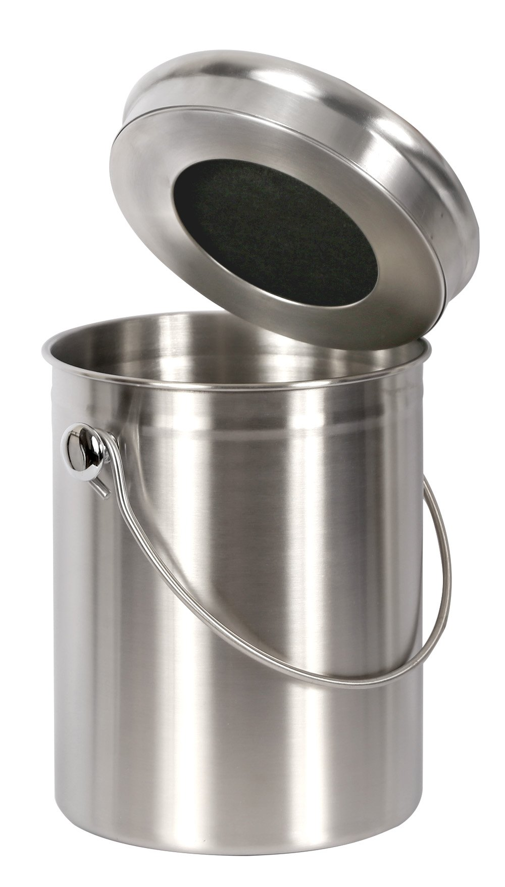 Estilo Stainless Steel Compost Pail, 1 Gallon Compost Bin, 2 Free Odor Absorbing Filters Included
