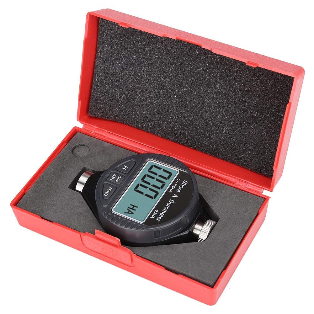 Digital Hardness Tester Meter 0-100/° Measuring Range 0.1/° Accuracy A Type Rubber Tire Durometer Shore Type LCD Display Durometer Meter Rubber Hardness Tester