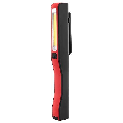 Akku Werkstattlampe Stablampe COB Magnetische Auto Inspektion Taschenlampe Rot