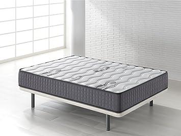 Seasons - Colchón viscoelástico de 15 cm para cama de 90 x 190 cm, reversible