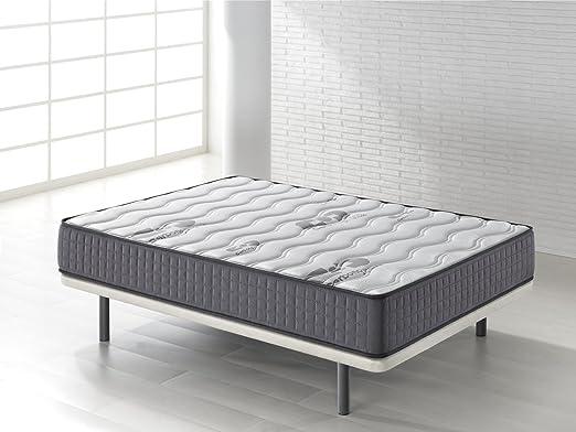 Seasons - Colchón viscoelástico de 15 cm para cama de 90 x 190 cm, reversible con malla transpirable 3D y tejido carbono, gran comodidad, ...