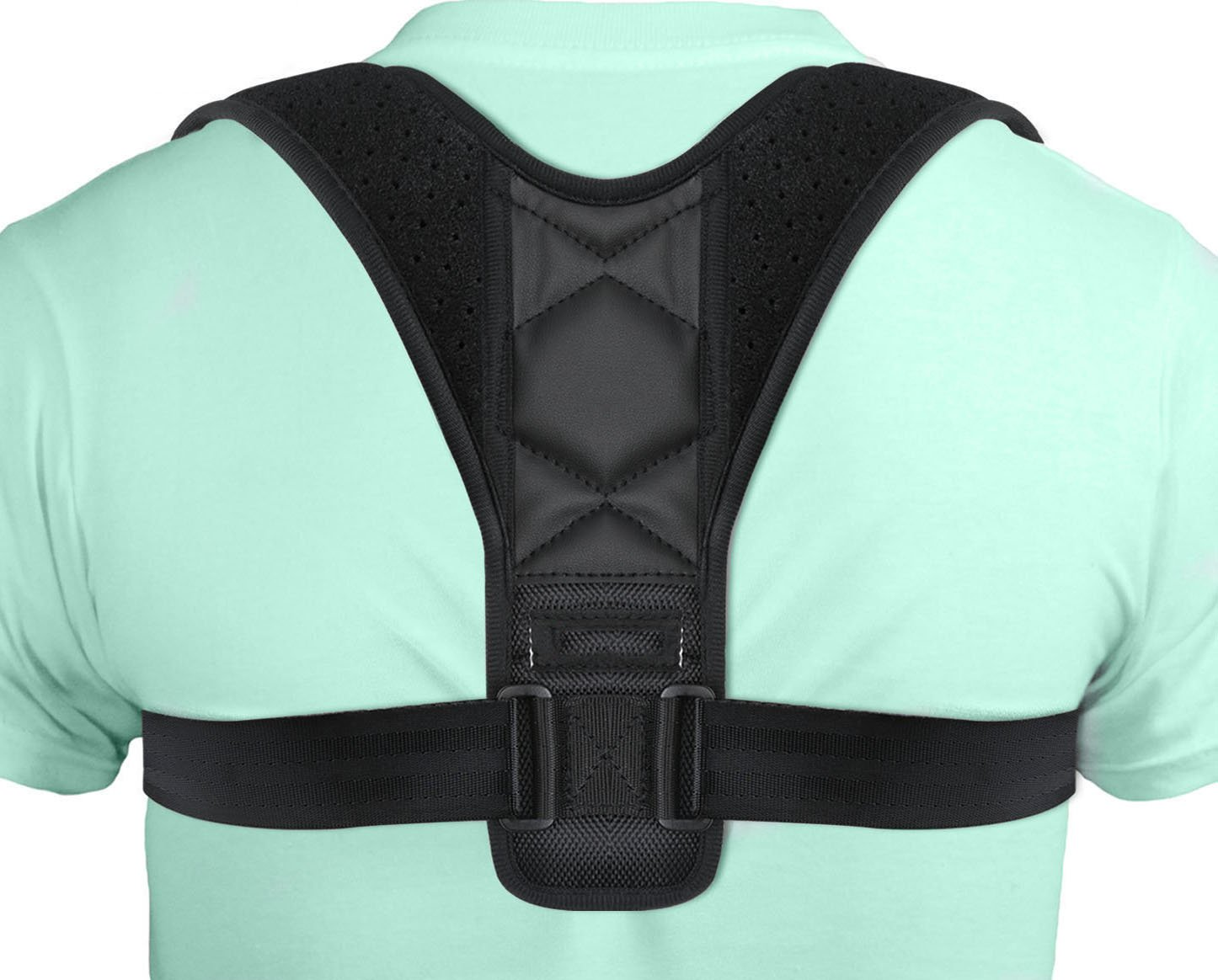 Back Posture Corrector, Hersvin Shoulder Back Straightener Brace Trainer Clavicle Chest Support to Improve Slouching and Hunching, Postural Problems, Relieve Neck Pain for Women Men Teenagers Adults