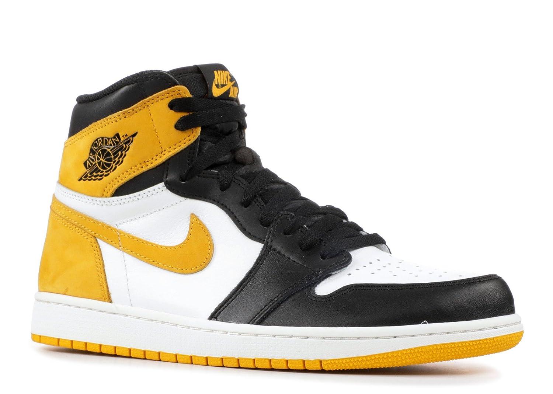 best service b9e19 f3465 Amazon.com   Nike Air Jordan 1 Retro High OG 555088 109 Yellow Ochre    Basketball