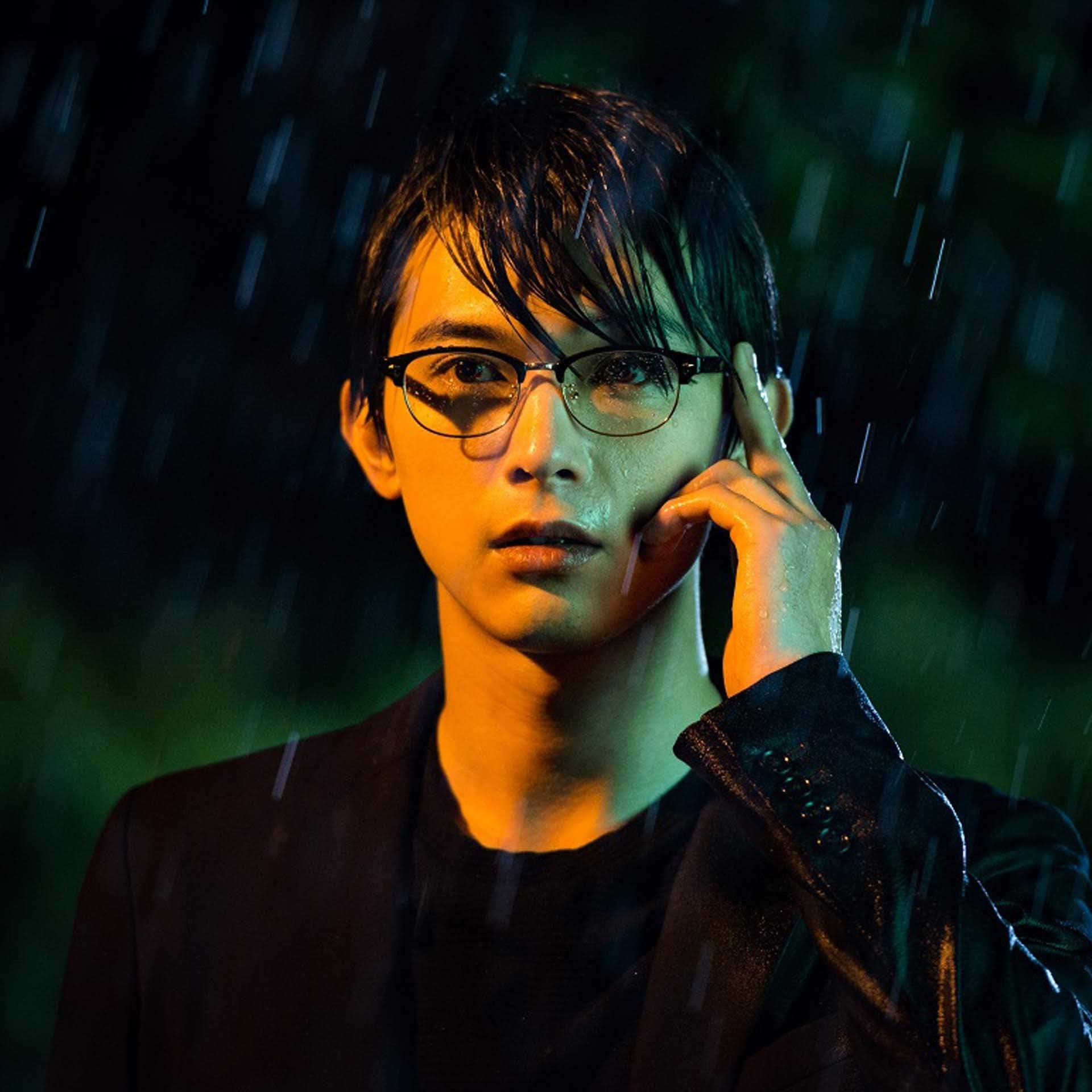 吉沢亮 Ipad壁紙 Giver 義波 眼鏡をかけて雨の中 男性タレント