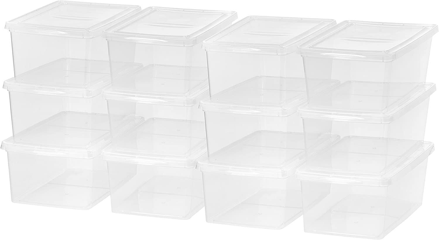 IRIS USA, Inc. CNL-17 17 Quart Clear Storage Box, 12 Pack