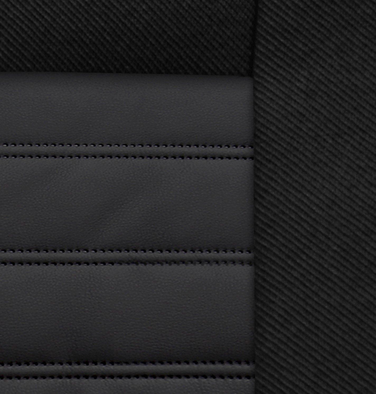 Sitzbez/üge Auto universal Set Autositzbez/üge Schonbez/üge schwarz Vordersitze und R/ücksitze mit Airbag System Modern MP 1