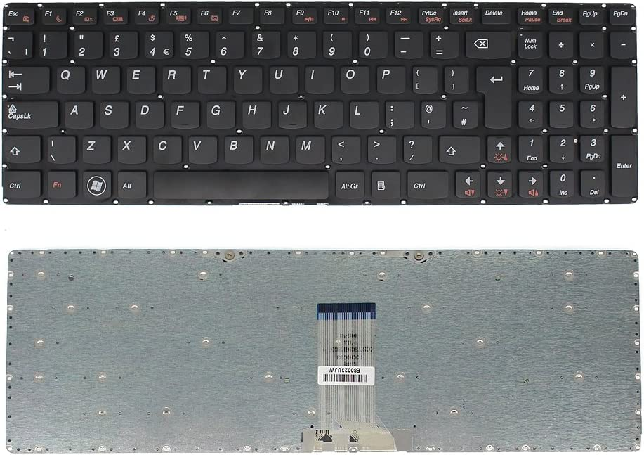 S-Union New Replacement Black with Frame UK Keyboard for IBM Lenovo B5400 M5400 Series Laptop Part Number 25213244 9Z.N8RSQ.G0G AEBM5G00020