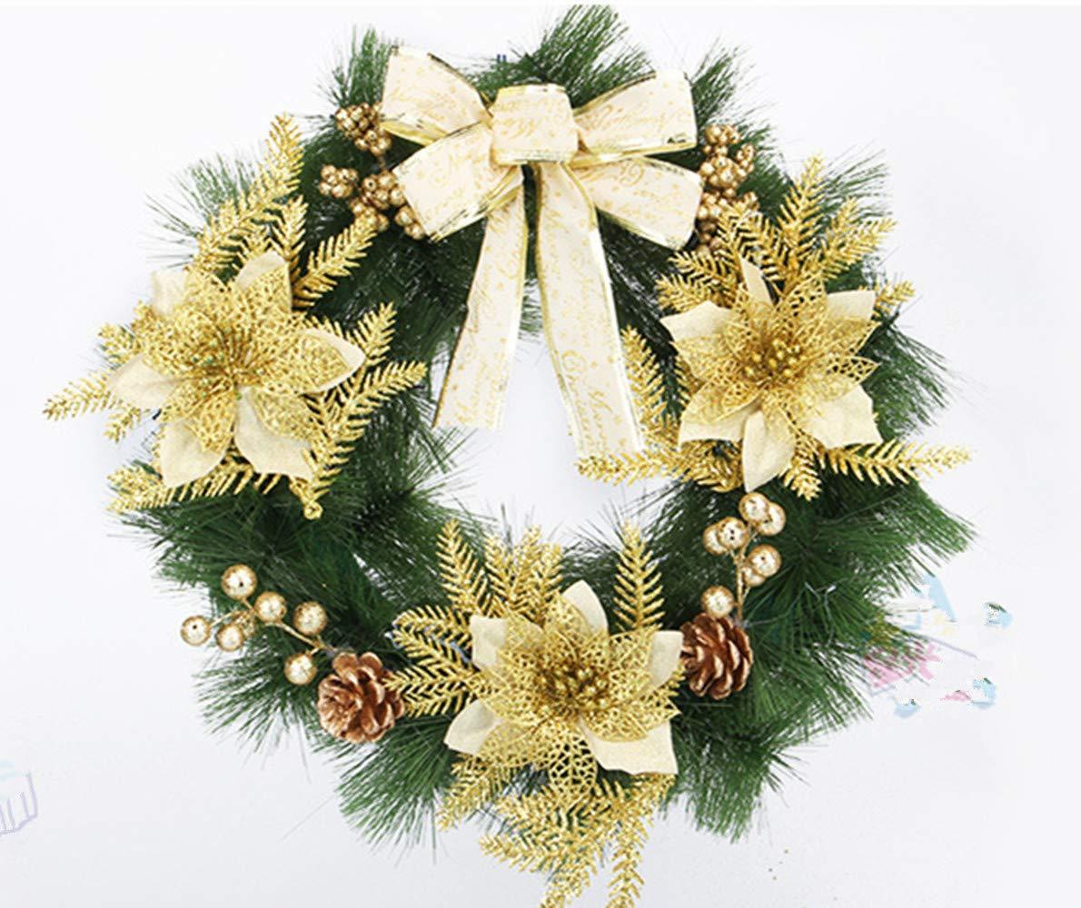 homeyusa Christmas Decorative Wreath Indoor Outdoor Christmas Wreath Ornaments (Color6)