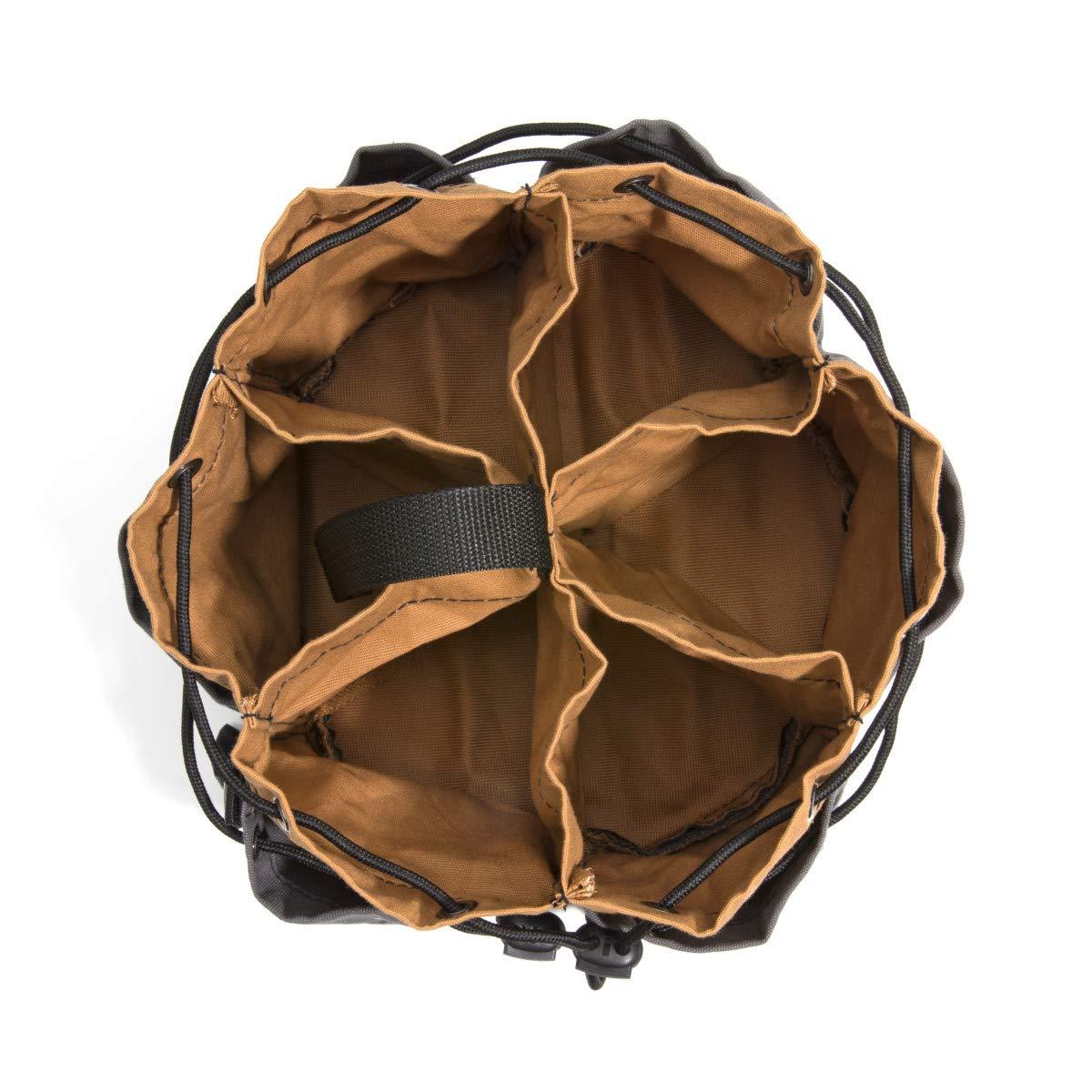 Dickies Work Gear – 12-Pocket Parachute Style Bag – 57004 – Grey/Tan Parachute Work Bag – Tool Bag – Construction – Snap-Secured Tape Strap – 8.8 oz. by Dickies Work Gear (Image #3)