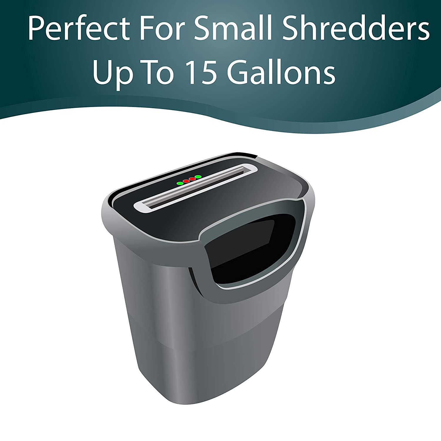 Perfect Size Most Paper Shredders up to 15 Gallons Upper Midland Products 50 Paper Shredder Clear Bags