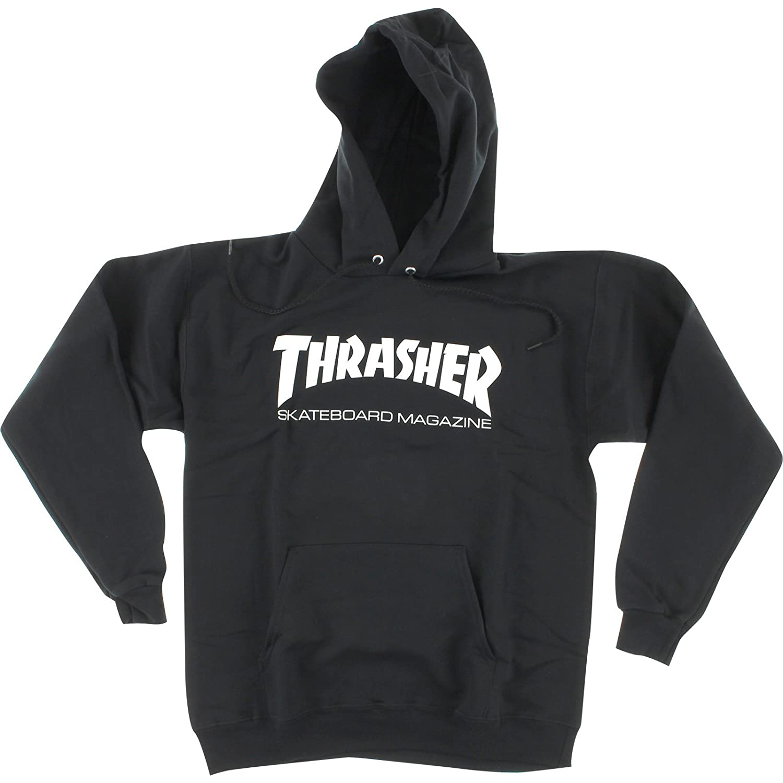 b6ae336c1d81 Amazon.com   Thrasher Skate Mag Hooded Sweatshirt - X-LARGE Black White    Sports   Outdoors
