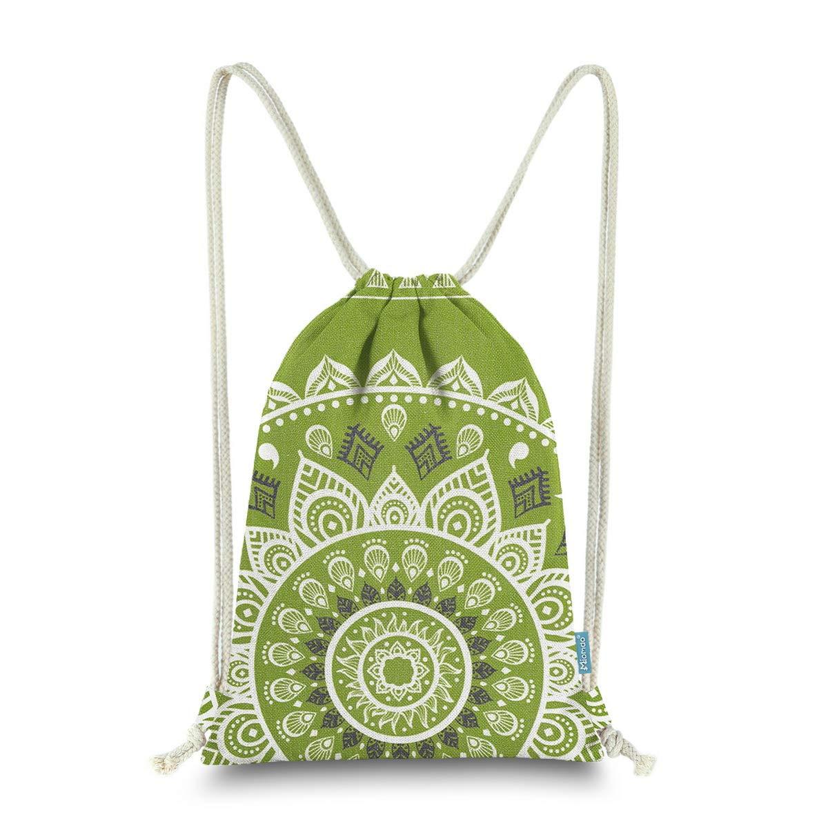 0b34e018b65 Miomao Drawstring Backpack Gym Sack Pack Mandala Style String Bag With  Pocket Canvas Sinch Sack Sport Cinch Pack Christmas Gift Bags Beach  Rucksack 13 X 18 ...
