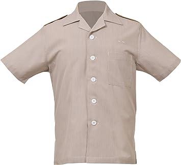 Uniforme obras Junior Cable limpieza camisa de hombre, marrón ...