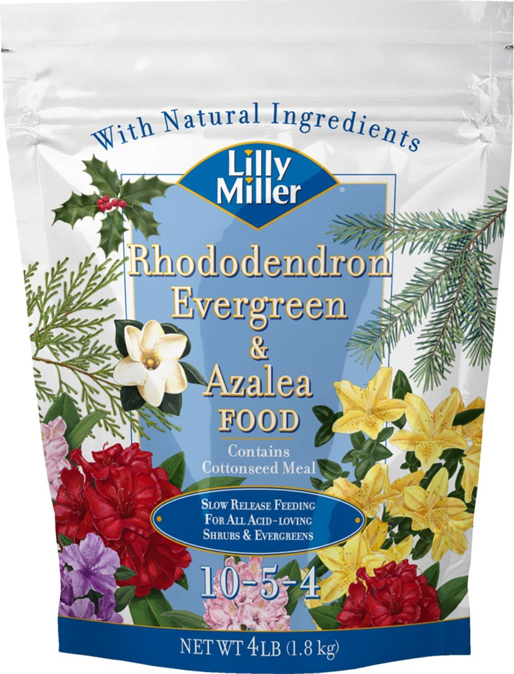 Lilly Miller 100099084 Rhododendron Evergreen & Azalea Food, 4 Pound