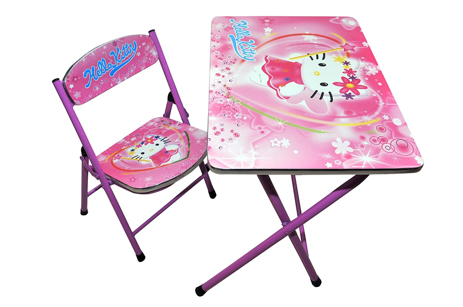 Hello kitty chair - Happy Kids Foldable Study Table And Chair Hello Kitty Pink Amazon In Toys Games