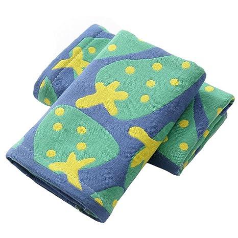Affe 2 pcs/lot Cute fresa 3 capas bebé toallas de cara de algodón Toallitas
