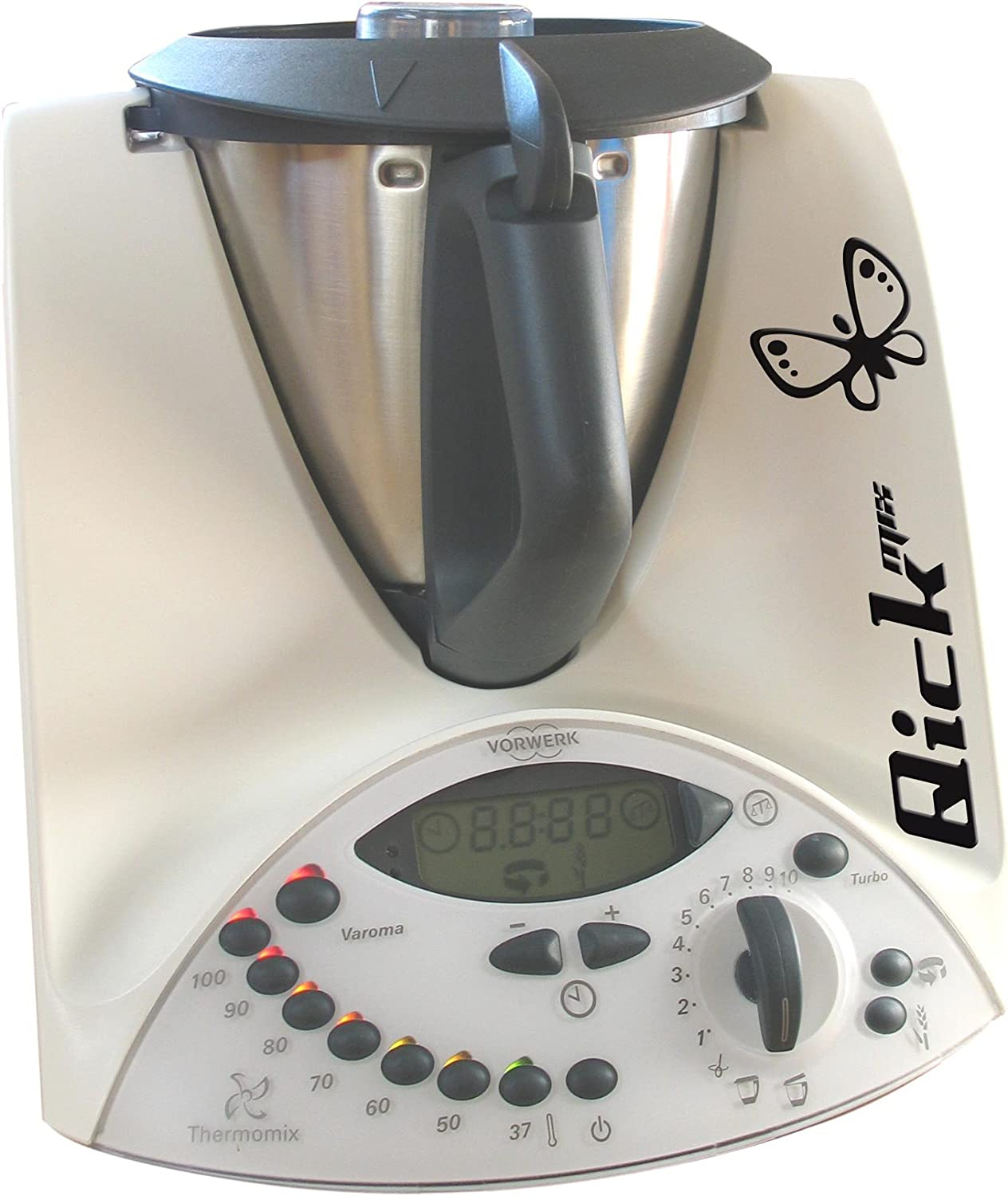 Adhesivo es compatible con Thermomix TM31 Quickmix - mariposa - vinilo: Amazon.es