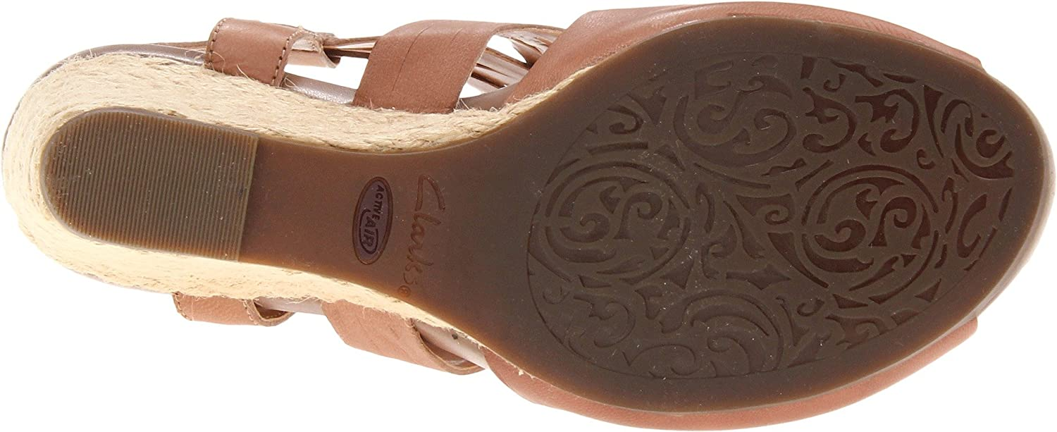 CLARKS Women's Kyna Smart Wedge Sandal B008M2QYP8 11 B(M) US|Taupe