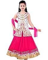 SAARAH White & Pink Lehenga Choli Set (EMP3359)