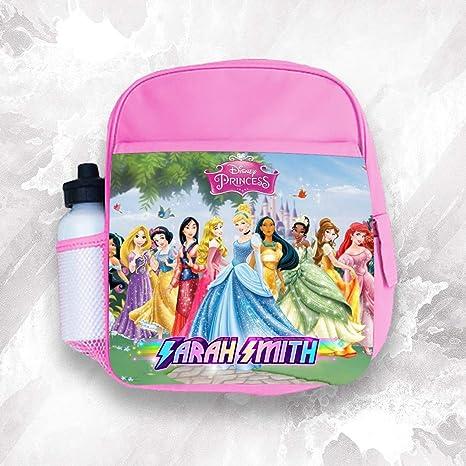 Mochila infantil personalizada cualquier nombre Disney Princesa Niña Niños Bolsa Escolar