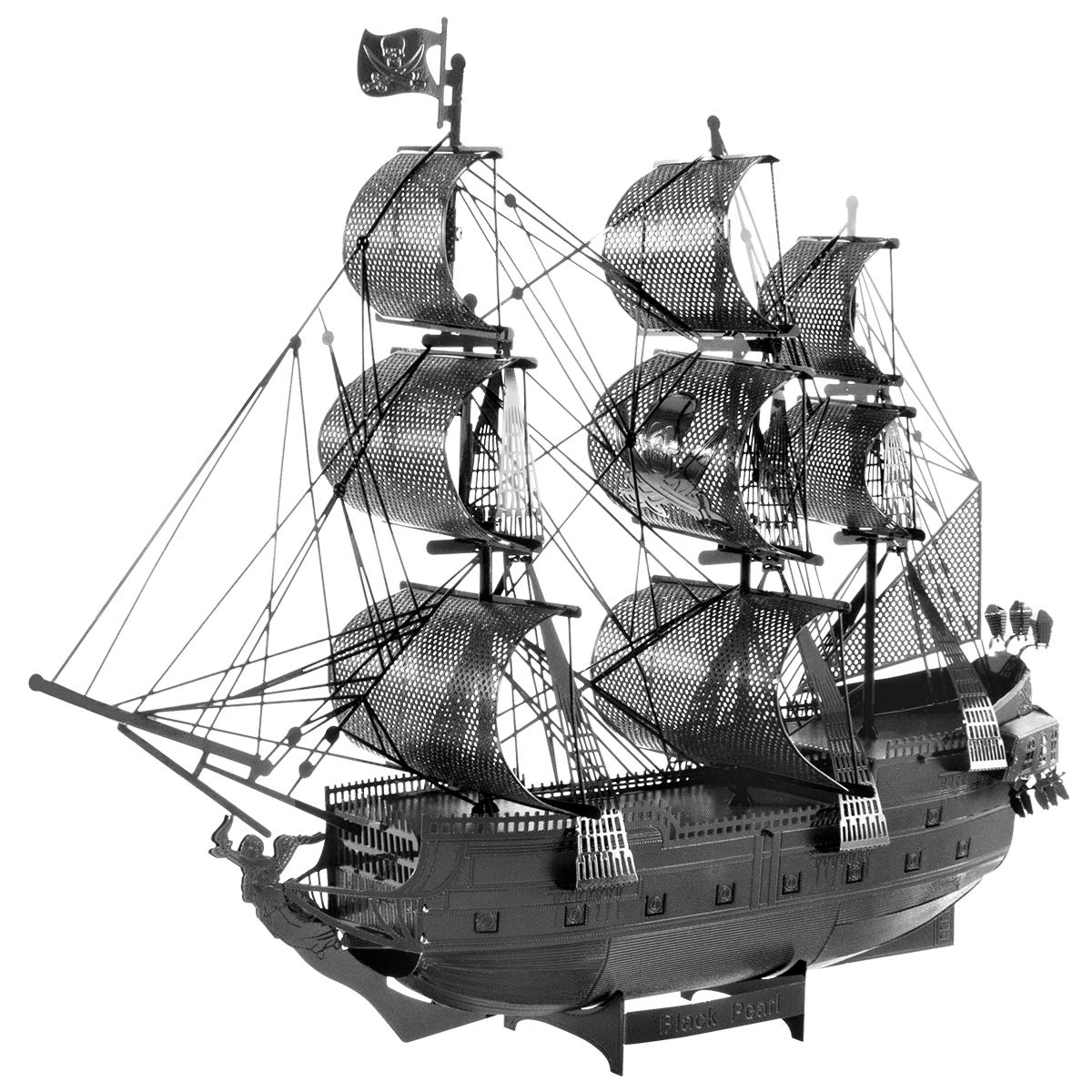 Fascinations Metal Earth ICONX Black Pearl Ship Black Version 3D Metal Model Kit
