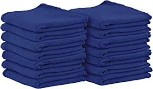Utopia Towels Shop Towels - (Pack of 100) - Size 13 x 13 Inches - Reusable Commercial Grade 100% Cotton Washable Cleaning Cloths - Perfect Shop Rags for Mechanic Work and Bar Mop