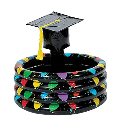 Fun Express - Inflate Graduation Cooler for Graduation - Toys - Inflates - Inflatable Coolers - Graduation - 1 Piece: Toys & Games