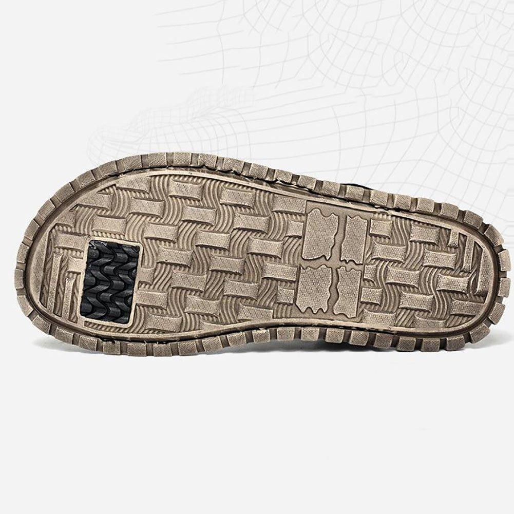 QSYUAN Herrenschuhe Sommer Neue Freizeitschuhe Leder Peas Schuhe Rutschfeste Pedal & Comfort Atmungsaktive Rutschfeste Schuhe Tragbare Füße Faule Schuhe & Strandschuhe,schwarz,40 - 17ff78