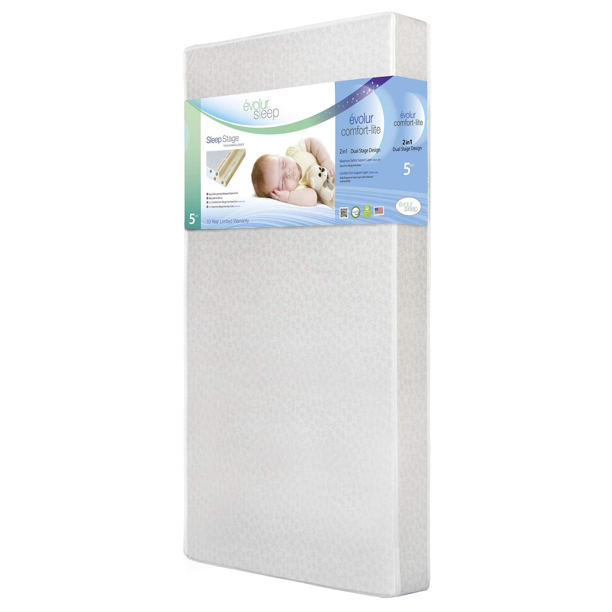 Evolur Sleep Dual Stage Comfort-Lite Foam Mattress, Silver Star, 5'' by Evolur