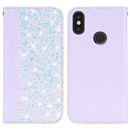 Efficient Glitter Bling Phone Cases For Xiaomi Redmi 6 Pro Leather Wallet Magnetic Flip Crocodile Skin Book Case For Red Mi 6pro Cover Flip Cases