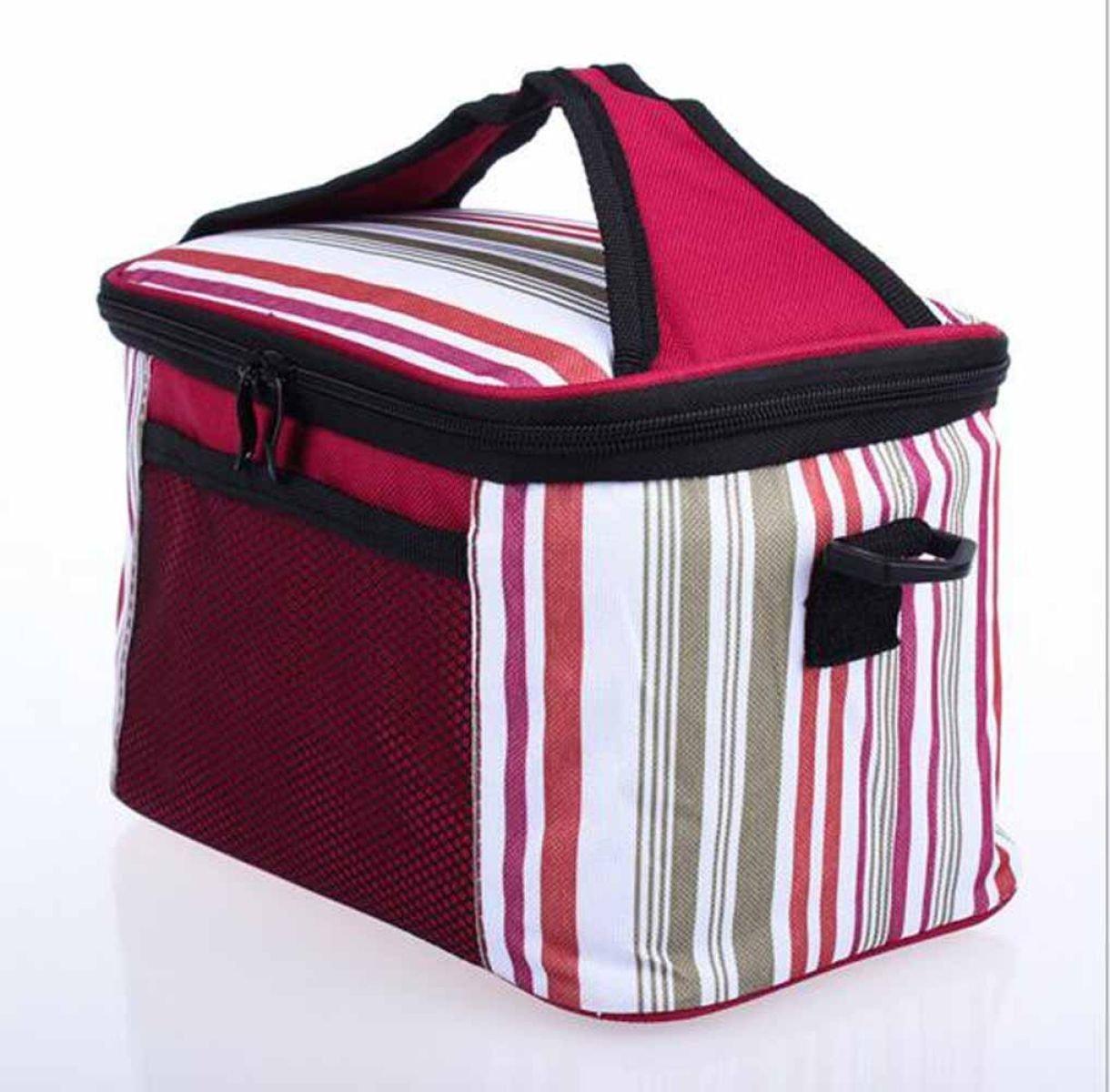 Outdoor-Picknick-Kühltasche Lunch Bag Eisbeutel Isolierpakets Bewegliche Handtasche,Red