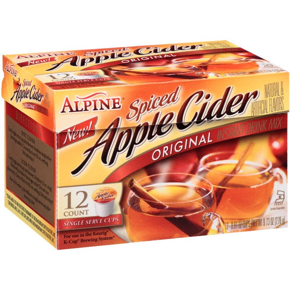 Alpine Spiced Apple Cider K Cup 2 X 12 Ct (2 Boxes)