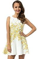 Teeze Me Juniors Sleeveless Floral A-Line Skirt Dress