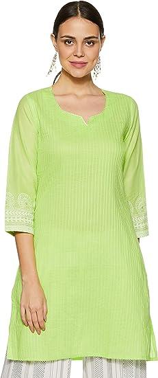 Rangriti Women's Cotton Green Straight K…