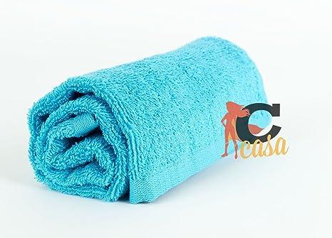 Toallas y toallitas Sophie turquesa de algodón