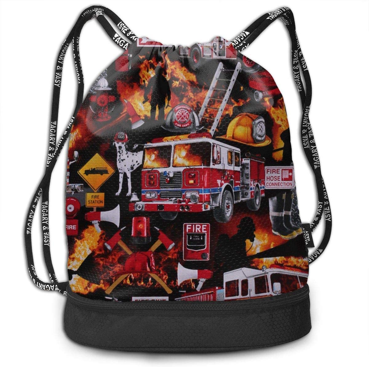 Portable Luggage Duffel Bag Firefighter Equipment Dalmatian Dog Fire Travel Bags Carry-on In Trolley Handle