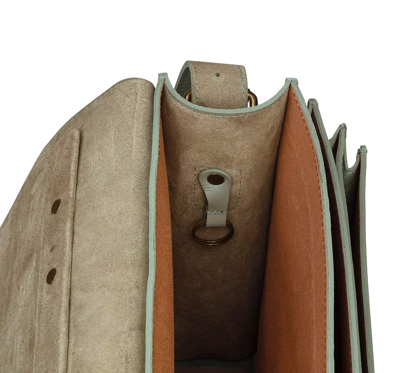 Schoolmaster modern Classic Umh/ängetasche f/ür Damen Berry Moderne Lehrertasche /& Aktentasche aus echtem Leder viele Innenf/ächer