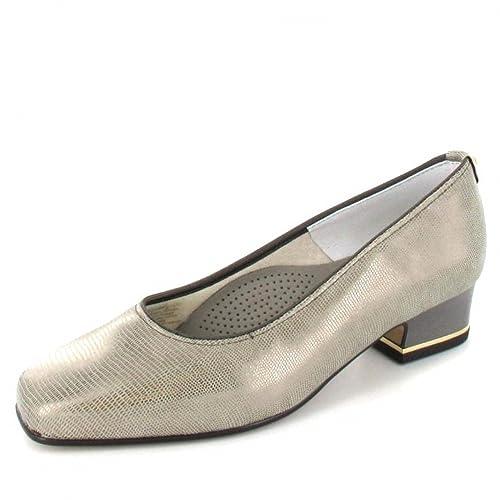 finest selection da083 164d4 Color Talla 4 De Zapatos Amazon Vestir Ara Para Mujer Plateado aXZqBRU