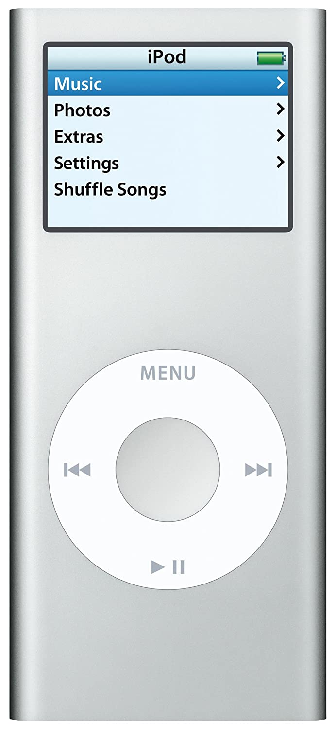 Amazon.com: Apple iPod nano 2 GB Silver (2nd Generation) (Discontinued by  Manufacturer): Home Audio & Theater