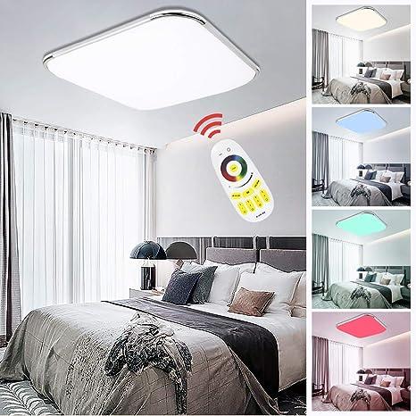 Lámpara de techo LED RGB, colores a elegir, lámpara de salón ...