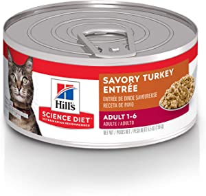 Hill's Science Diet Wet Cat Food, Adult, Minced Savory
