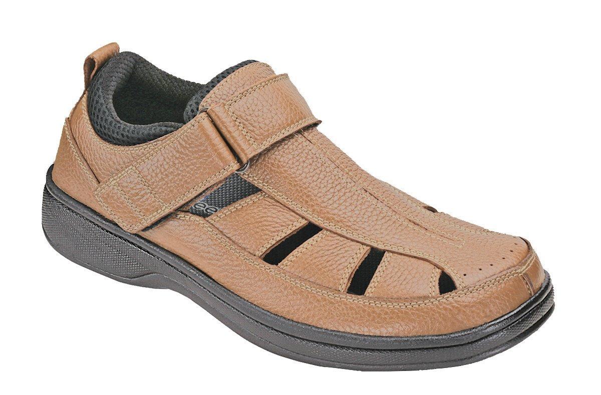 Orthofeet Most Comfortable Plantar Fasciitis Melbourne Orthopedic Diabetic Depth Men's Sandals 10 W US|Brown